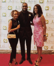Kam Chancellor (NFL) and Regina Mobley (Ch.13 News)
