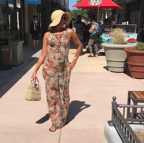 Deserted Tie Dye Maxi Dress by Fashion Nova